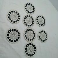 Sawyer's Viewmaster Reels - 8 Reels - Bambi, Batman, Mary Poppins 1940 Vintage