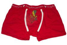 Boxer uomo rosso Natale capodanno in cotone elasticizzato simpatica stampa TG SM