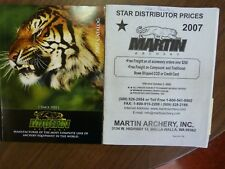 Martin Archery 2007 Catalog, Nice Condition w/ Star Distributor Price List