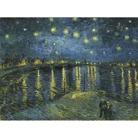 Vincent Van Gogh Starry Night Canvas Art Print Poster