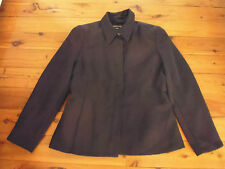 LADIES BLACK LONG SLEEVE POLYESTER BUTTON FRONT JACKET BY KATIES - SIZE 10 CHEAP