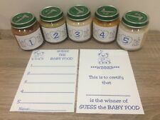 Guess the Baby Food Baby Shower Game Blue Boy