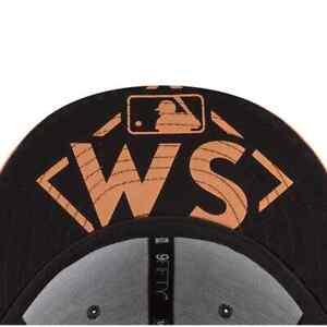 NEW ERA HOUSTON ASTROS 9FIFTY WORLD SERIES ON FIELD BASEBALL SNAPBACK CAP HAT