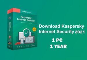 Kaspersky Internet Security 2020 1 PC / Device 1 year Full Version UK