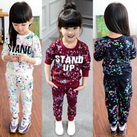Toddler Kids Baby Girls Autumn Clothes Hoodie Tops +Long Pants 2PCS Outfits Set