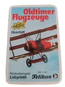 Quartett - Oldtimer Flugzeuge /  Pelikan Nr. 636 K 502