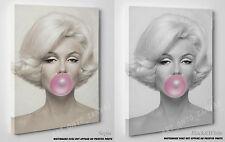Marilyn Monroe Pink Bubblegum Canvas Print Pop Art  A1 A2 A3 A4 Ready To Hang