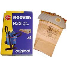 Genuine Hoover H33 Aqua & Dry 15 Sacchetti Per Aspirapolvere Hoover X 5 09177643