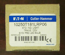 Eaton Cutler Hammer Red Lens 120V Indicating Light Red Led Bulb 10250T181Lrp06