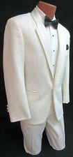 Mens Ivory Christian Dior Tuxedo Dinner Jacket Off-White Prom Wedding Mason 44XL