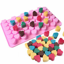 Silicone 55 Heart Ice Cube Chocolate Cookies Candy Cake Decor Mold Mould Tray