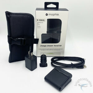 MOPHIE Charge Stream Travel Bundle Kit (Wireless Charging Pad/Wall/Car/Cable)