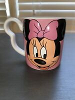 DISNEY MONOGRAM MINNIE MOUSE Mug/Cup Collectible RARE  3D Original Pink