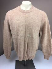 Vintage 80s GLEN STUART OF IRLAND Tan/Beige 100% Pure New Wool Knit Sweater XL