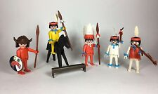 Vintage Playmobil Western Cowboy~Native Indian~Figures Horse Chief Medicine Man