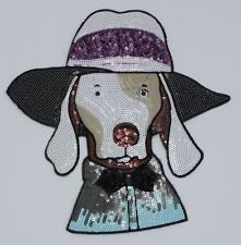 Sequin Patch: Lady Dog (M269)