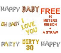 """16"""" Letters Foil Balloons Custom Message Self-inflating Baby baloons Bride to be"""