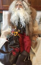 OOAK Vintage Hand Crafted ARTIST Santa Claus FOLK ART ST NICK Father Christmas