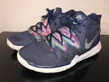 Nike Kyrie 5 Galaxy Navy Blue Multi-Color Sneakers Size 7Y AQ2456-900 NICE