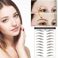 4D Hair-like Eyebrow Tattoo Sticker False Eyebrows Waterproof Lasting Makeup sxb
