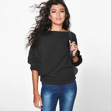 Women Autumn Batwing Sweater Jumper Tops Oversized T-shirt Pullover Sweatshirt