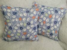 WOODALE  BY JANE CHURCHILL 1 PAIR OF CUSHION COVERS.COTTON/LINEN FABRIC