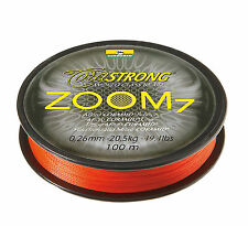 CORMORAN Corastrong Zoom7,Coramid Schnur,100m,0.30mm,orange,geflochten,33-41030