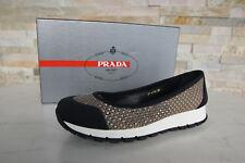 luxus PRADA Gr 41 Ballerinas Slipper Schuhe BEE 3F6158 beige Wüste NEU UVP 490 €