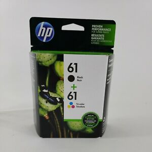 HP 61 Combo Black Tri Color Genuine Ink Cartridges Factory Sealed Exp 11/19