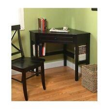 Corner Wood Desk Computer Table Teen Furniture Office Nook Art Study Kids Black
