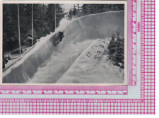 German Sports Card 1936 Winter Olympics, Bobsled in Action