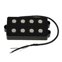4 String Bass Humbucker Double Coil Pickup for Bass Guitar Coil Tap Black