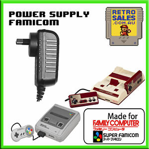 Nintendo Super Famicom Power Supply Adapter Pack Famicom Disk Jr AV AUS Plug