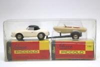 Schuco Piccolo Mercedes 190 SL mit Anhänger und Boot 713 764