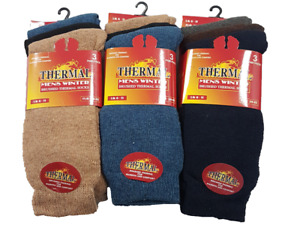 12 Pairs Mens Thermal Winter socks Thick Cotton Blend Warm Ski Hike Outdoor 6-11