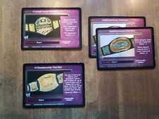 WWE WWF Raw Deal TCG OOP TITLE BELT Cards Mixed Lot