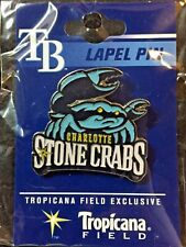 Charlotte Stone Crabs (Class A-Advanced affiliate of the Rays) LOGO Lapel Pin