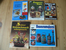 26  verschiedene Hobbybücher Salzteig Seidenmalerei Bauernmalerei Weihnachten