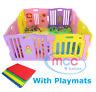 MCC® Plastic Baby Playpen PlayPen Pink Large Foldable Indoor&Outdoor MCC