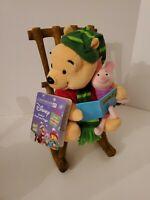 Disney - Winnie Pooh / Piglet - Animated Talking - Rocking Chair Plush - Gemmy