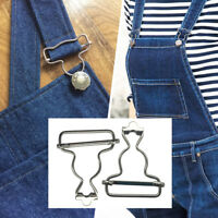 Silver Dungaree Buckle Clips Fasteners Repairing Clothes Coats Bib Overalls Belt