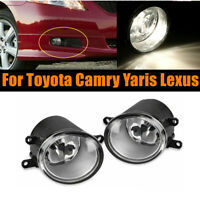 Pair of Front Bumper Fog Light Driving Lamps For Toyota Camry Yaris Lexus RH+LH