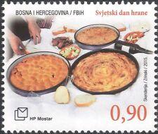 Bosnia Erzegovina 2015 GIORNATA MONDIALE DELL'ALIMENTAZIONE/FAO/Un/Pane/vino/stufato/Baklava 1 V b2756w