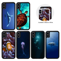 Protective Rubber Case for iPhone 5 5 5s SE 6 6s 7 8 PLUS XR X XS Max / SEALIFE