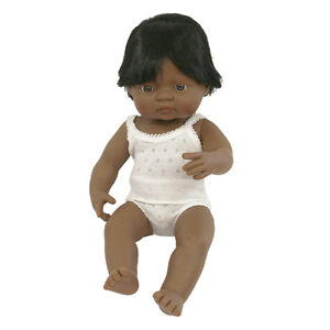 NEW Miniland Baby Doll Hispanic Boy 38cm Toddler Kids Toys