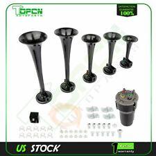 5x Trumpets Musical Dukes Of Hazzard Dixie Horn Kit 125Db + Air Compressor Black