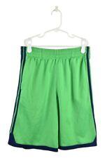 Adidas Boys Shorts Athletic M Green Polyester