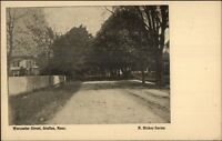 Grafton MA Worcester St. c1910 Postcard #2