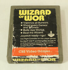 Atari 2600 Game Wizard Of Wor  By CBS Electronics Tested and Working