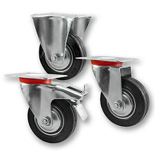 Transportrollen Schwerlastrollen Bockrolle Lenkrolle mit Bremse 40mm bis 200mm